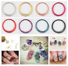 0 99 1 roll 30m colorful nail art copper wire line diy manicure