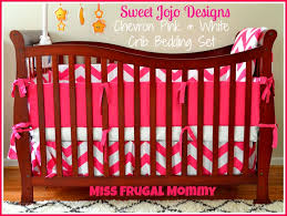 Pink Chevron Crib Bedding The Sweet Jojo Designs Chevron Pink White Crib Bedding Set