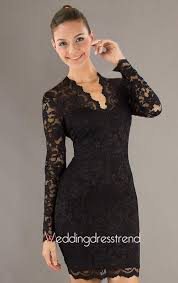 best fashionable v neck long sleeve knee length lace dress shop