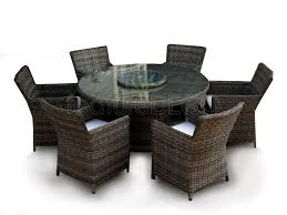 6 seater outdoor dining table richmond 6 seater rattan round table dining furniture set brown