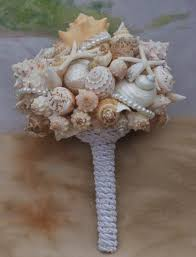 wedding bouquets with seashells seashell wedding bouquet