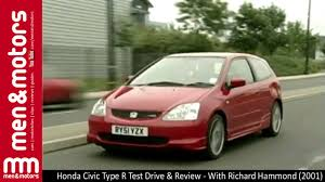 2001 honda civic type r honda civic type r test drive review with richard hammond