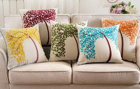 decorative pillows for living room tree embroidered decorative pillow for living room linen throw