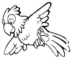 parrot clipart black white 17660