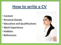 writing a good cv yhemyc