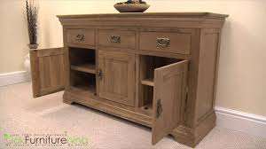 french chateau rustic solid oak large sideboard youtube