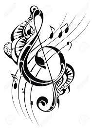 nota da música de fundo royalty free cliparts vetores e