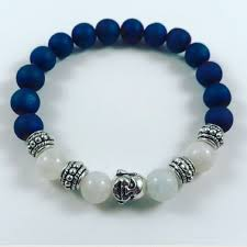 moonstone buddha 50 jewelry women blue druzy moonstone buddha bracelet from