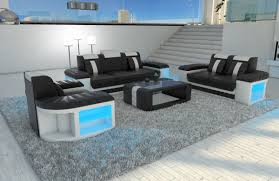 sofa garnitur sofa set designersofa bellagio 3 2 1 led lights