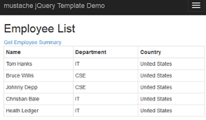convert json to html table create html table from json in asp net mvc view using jquery and