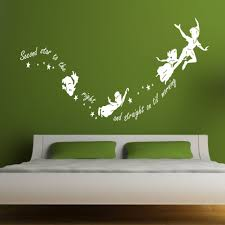 Removable Nursery Wall Decals G197 Tinkerbell Pan Children Nursery Wall Stickers Quotes