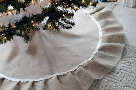keep tree fashionable with diy burlap tree skirt