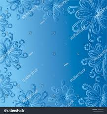Blue Pattern Background by Beautiful Blue Floral Pattern Background Vector Stock Vector