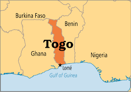 togo location on world map togo blocks as protesters march for second day premium