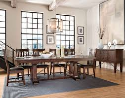 Vintage Dining Room Furniture Furniture Astonishing Dark Brown Melamine Curve Edge Rectangular