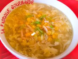 cuisine asiatique poulet la fabrique gourmande soupe chinoise au maïs poulet et oeuf battu