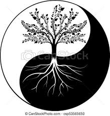 tree yin yang clipart vector search illustration drawings and