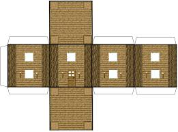 papercraft minecraft house