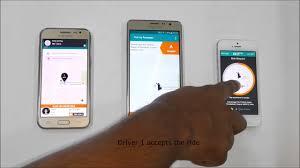 uber taxi app clone uber clone demo video jan 2017 version