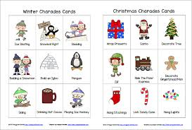 winter and christmas charades free printable game for kids buggy