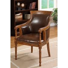Tan Leather Accent Chair Furniture Of America Antique Oak Accent Chair Free Shipping