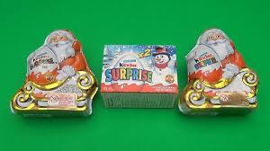 kinder surprise egg christmas party opening 2 new huge giant