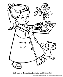 mother u0027s day coloring pages breakfast in bed for mom coloring