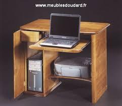 bureau informatique en bois bureau informatique réf 099dh merisier