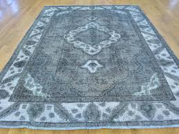 Overdyed Area Rugs by 6 5 U0027 X 9 U0027 Hand Knotted Grey Overdyed Persian Tabriz Barjasta