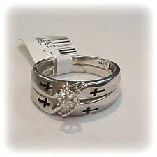 christian wedding bands genuine diamond christian wedding ring set gold 10k