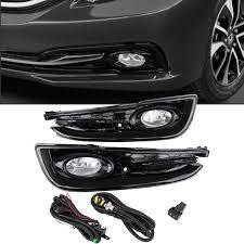 2013 2014 2015 honda civic 4 door sedan clear bumper fog lights w