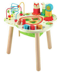 wooden activity table for buy early learning centre wooden activity table at argos co uk