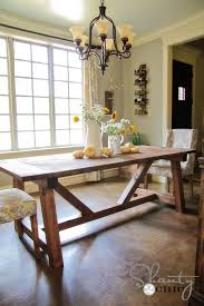 build a rustic dining room table ana white 4x4 truss beam table diy projects
