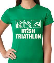 irish triathlon funny st patrick u0027s day ladies t shirt