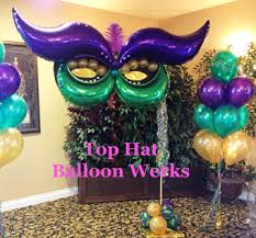 mardi gras party theme top hat balloon werks balloon event decorations orange county