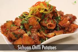 sichuan chilli potatoes finger food recipes sanjeev kapoor