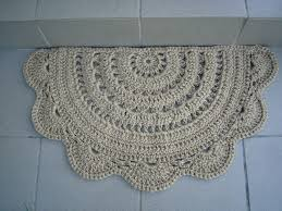 Half Circle Kitchen Rugs Doormat Half Circle Crochet Jute Door Rug Kitchen Rug Doily
