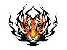 tribal tiger color ink design k tribal