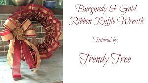 ruffled ribbon ruffled ribbon wreath tutorial