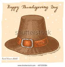 Happy Thanksgiving Pilgrims Pilgrim Hat Stock Images Royalty Free Images U0026 Vectors Shutterstock