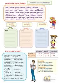 Countable And Uncountable Nouns Teaching 45 Free Esl Countable And Uncountable Nouns Worksheets