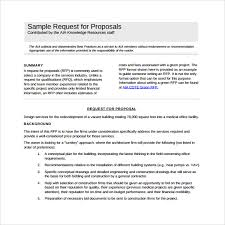 request for proposal example request for proposal templaterequest