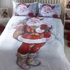 Double Christmas Duvet Christmas Duvet Cover U0026 Pillowcase Sets Santa Penguins Reindeer