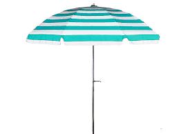 Patio Umbrella Fabric by 7 1 2 U0027 Diameter Patio Turquoise U0026 White Stripe Commercial Outdoor