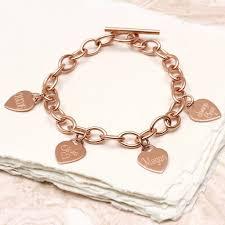 heart pendant bracelet images Personalised loved ones gold heart charm bracelet by hurleyburley jpg