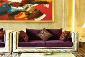 Purple Leather Sofa Sets 2268 Modern Purple Fabric Sofa Set