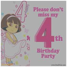 birthday cards beautiful 4th birthday invitation cards 4th