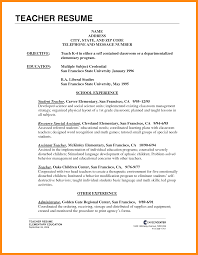 Sample Resume Simple by Sample Resume For Ielts Teacher Templates