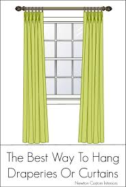 How To Hang Bay Window Curtains The Right And Wrong Way To Hang Curtains How To Hang Curtains
