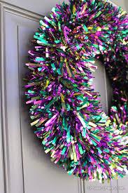mardi gras wreaths 5 minute mardi gras tinsel wreath